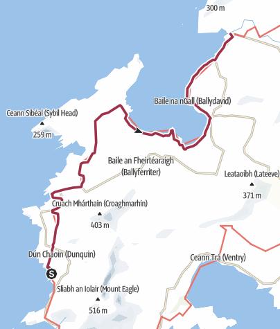 Map / Dunquin to Ballydavid