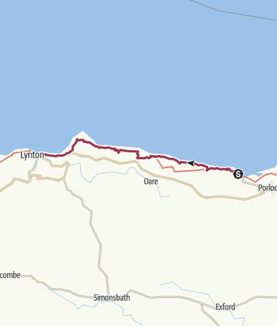 Map / Porlock Weir to Lynmouth