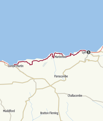 Map / Lynmouth to Combe Martin