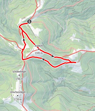 Map / Drei Hütten Schwaigen-Tour