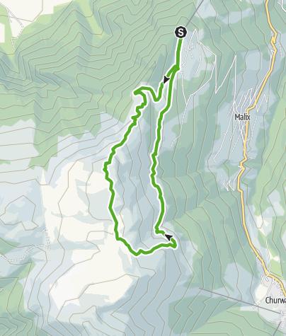 Karte / Dreibündenstein Rundwanderung Brambrüesch