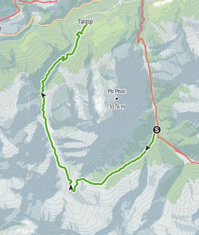 Kaart / Val Mingèr - Val Plavna - Tarasp