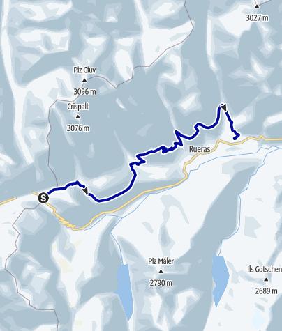 Kaart / Oberalppass - Sedrun