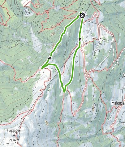 Map / Spundis circular hike