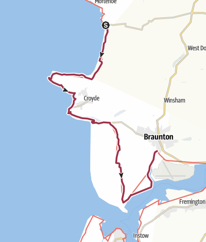 Map / Woolacombe to Braunton