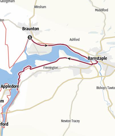 Map / Braunton to Instow