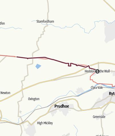 Map / Heddon-On-The-Wall to East Wallhouses