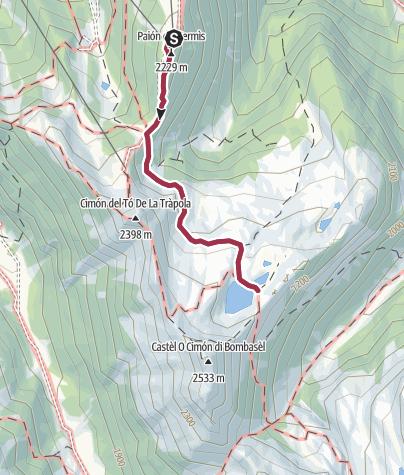 Cartina / Laghi Bombasel con zaino portabimbo