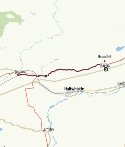 Carte /  Once Brewed to Gilsland
