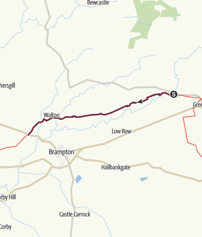 Map / Gilsland to Newtown