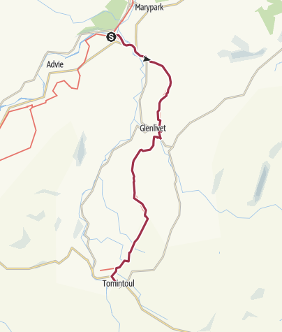 Carte / Tomintoul Spur (Speyside Way)