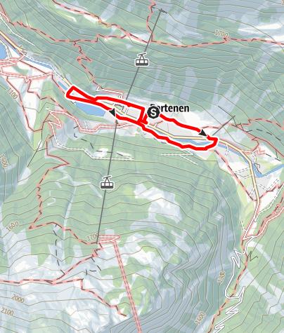 "Karte / Kräuterweg ""Probiar Amol"" Partenen"
