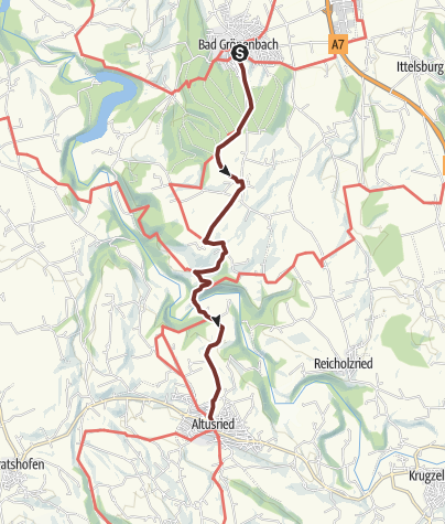 Karte / Jakobsweg Etappe Bad Grönenbach - Altusried