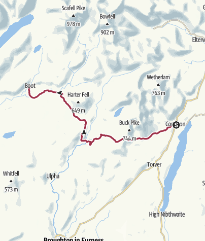 Map / Coniston to Boot