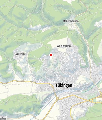 Karte / Geographischer Mittelpunkt von Baden-Württemberg