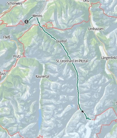 Map / Von der Larcheralm bis zur Braunschweiger Hütte
