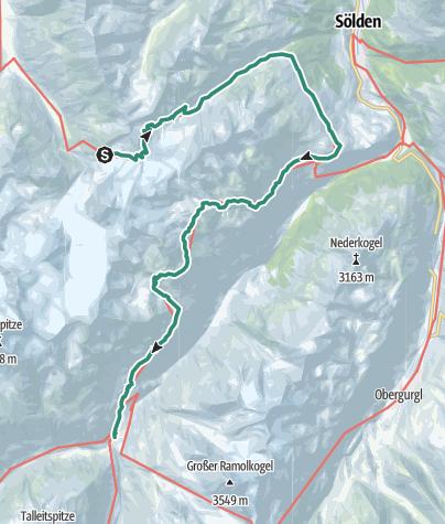 Karte / Von der Braunschweiger Hütte nach Vent im Ötztal