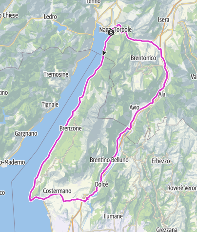 Map / Tour to Affi / Southern Lake Garda