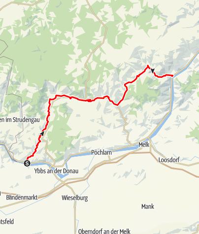 Mapa / Radroute Südliches Waldviertel