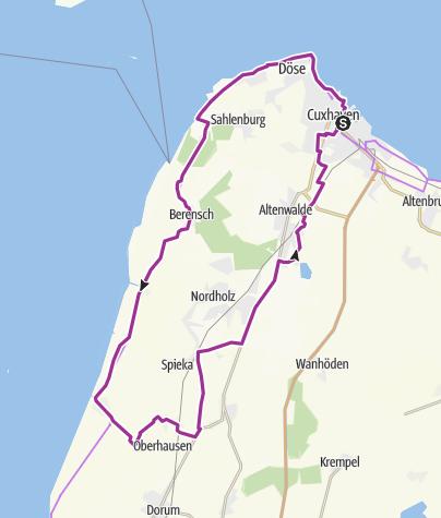 Karte / De Küst - Radrundweg entlang der Nordseeküste