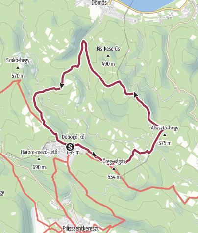 Map / A Visegrádi-hegység esszenciája