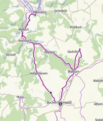 Karte / Tour im fränkischen Odenwald