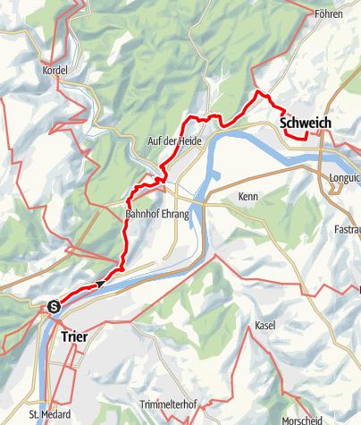 Karte / Moselhöhenweg (Eifelseite) (M) – 2. Etappe