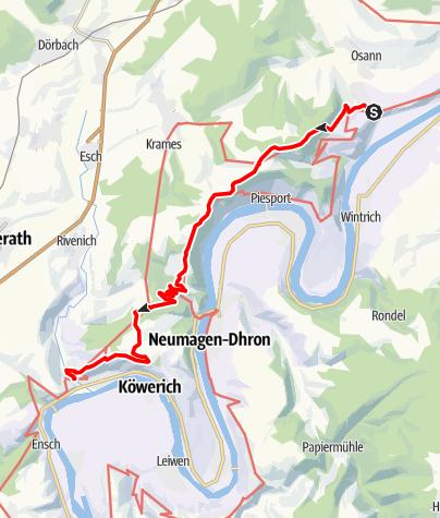 Karte / Moselhöhenweg (Eifelseite) (M) – 4. Etappe