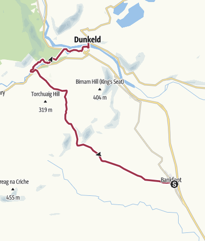 Map / Bankfoot to Dunkeld