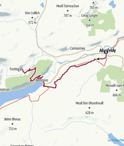 Map / Aberfeldy to Fortingall