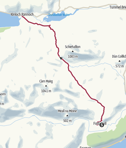 Map / Fortingall to Kinloch Rannoch