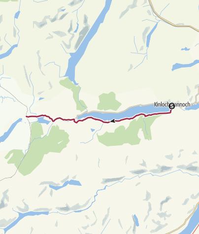 Map / Kinloch Rannoch to Rannoch Station