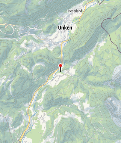 """Karte / Eingang Innersbachklamm - """"Wildes Baden"""""""