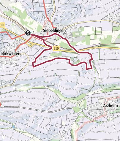 Map / Siebeldingen Wanderwege - Hohnert-Weg