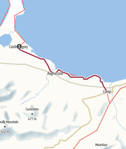Map / Castlegregory to Camp