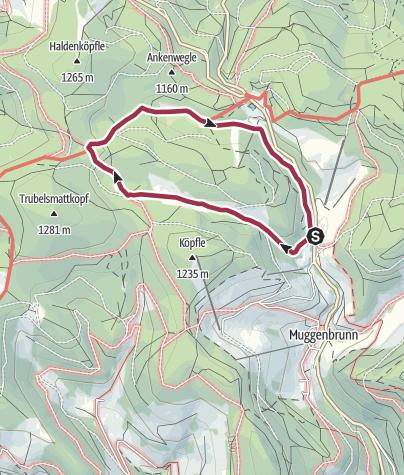 Karte / Naturlehrpfad im Naturschutzgebiet Langenbach-Trubelsbach