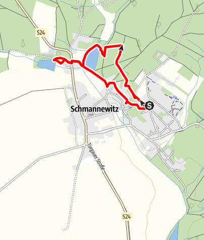 Karte / Schmannewitzer Holzweg