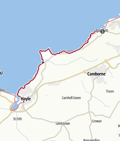 Map / Portreath to Hayle