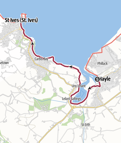 Map / Hayle to St Ives