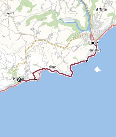 Map / Polperro to Looe