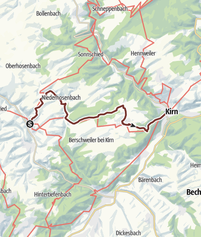 Karte / 02. Etappe Hildegard von Bingen Pilgerwanderweg: Herrstein - Kirn