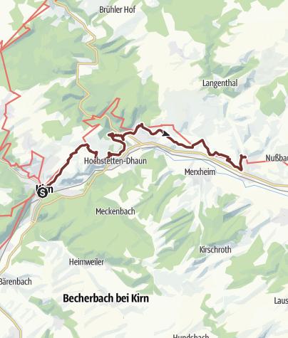Map / 03. Etappe Hildegard von Bingen Pilgerwanderweg: Kirn - Monzingen
