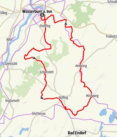 Karte / Von Baum zu Baum - Tour 3