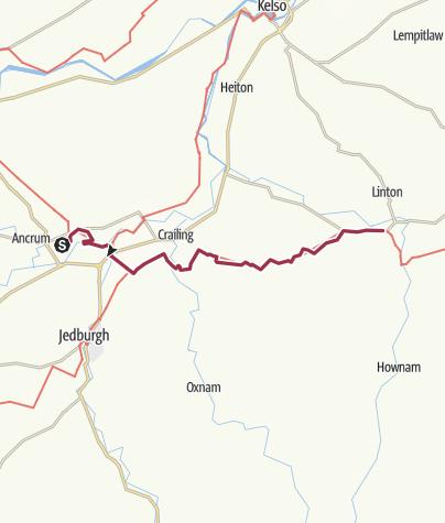 Map / Harestanes/Jedburgh to Morebattle