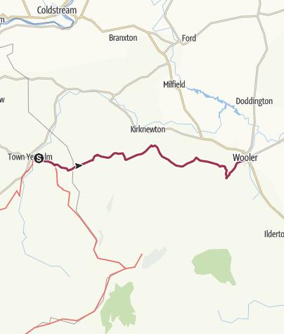 Map / Kirk Yetholm to Wooler