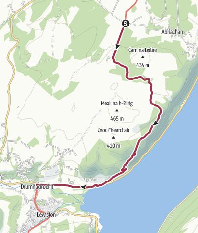 Map / Loch Laide to Drumnadrochit