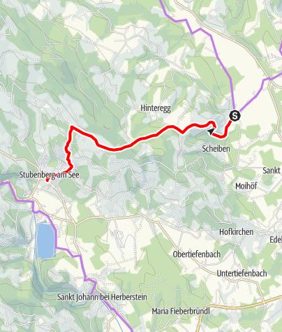 Karte / Schöneggtour HB9 - Anspruchsvolle Radtour