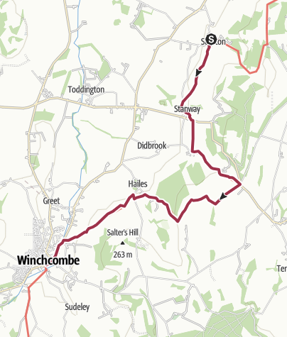 Map / Stanton to Winchcombe