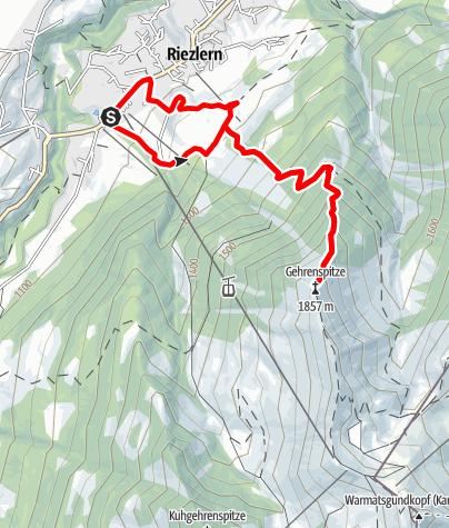 Map / Gehrenspitze Trail
