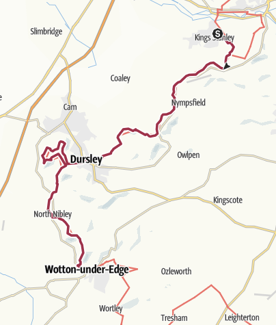 Map / King's Stanley to Wotton-Under-Edge